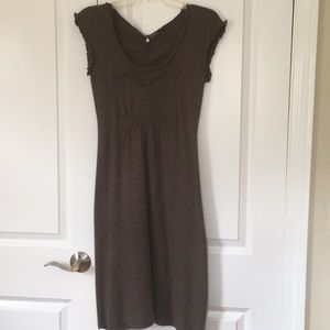 Anthropologie Knitted knotted tunic dress small